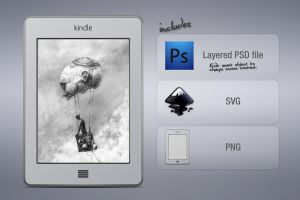 Kindle Touch SVG/PSD by megalofauna