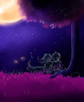 love and starry nights by Jeanniebear
