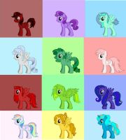 Pony Birthstone Adopts by Lunasoar