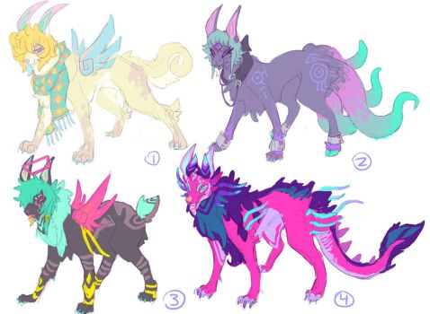 OPEN Feral Adopts $8.00 each :D by HoofFingers