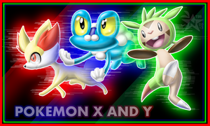 Pokemon X and Y Starters in 3D by NeppyNeptune