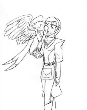 Pokemon AU--Trainer!Tal'kaela and Swellow by KittyCowLexa