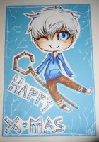 jack frost christmas card by kimbolie12