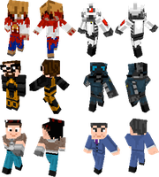 Halflife 2 minecraft skins by Sethial
