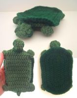 Turtle Phone Sleeve, Green (For Sale!) by FayardHandMadeCrafts