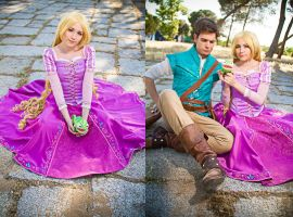 Rapunzel and Flynn Rider  Tangled by NunnallyLol
