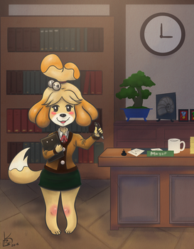 Isabelle ready to work by DirenKei