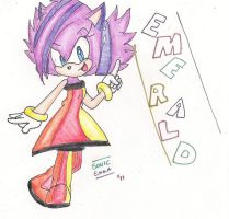:CE: Emerald the Hedgehog by Sonicemma