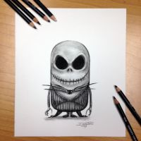 Minion Jack Skellington Drawing by AtomiccircuS