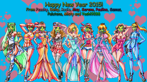 The Nintendo She Mask Girls - Happy New Year 2015! by Yoshi9288