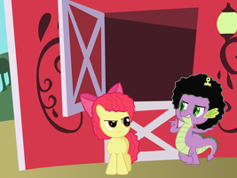 Spike and Applebloom 'Fros by pageturner1988