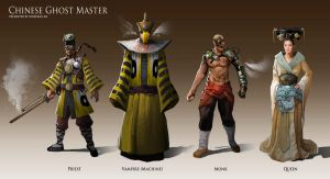 Chinese Steampunk Character Design by KoweRallen