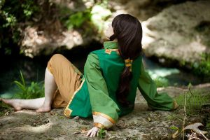 Earthbender, day dreaming by hiddentalent1