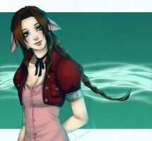 Aerith - FFVII by Lowenael