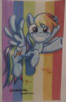 Dashie Pointing by TsukiButterflah