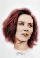 Scarlett Johansson colour by Steve-Nice