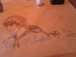 Random doodle on a paper table... by theplayster
