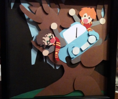 Harry Potter: Womping Willow Shadowbox by The-Paper-Pony