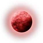 STOCK-Red Moon with glow by Viktoria-Lyn