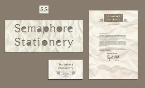 Semaphore Stationery by RedPaints