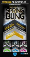 Spring Bling PSD Flyer Template by ImperialFlyers