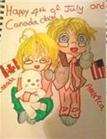 Happy 4th and Canada day by veronica-the-fox