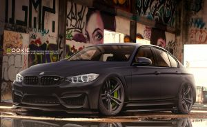 BMW M3 Black Attack by rookiejeno