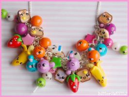 Kawaii Friends Charm Necklace by bitterSWEETones