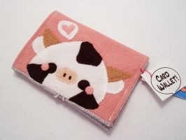 Pudding Cow Card Wallet by quacked