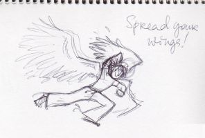 Daily sketches:Angel by mymilkiaen