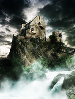 Castle on the rocky cliff by Juggernaught9900