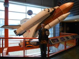 Me and the Space Shuttle Endever by Spyroconvexity