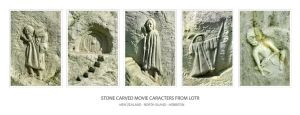 LOTR stone carved caracters by shatinn
