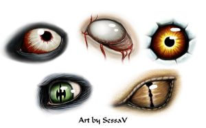 Monster Eyes by SessaV
