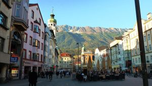 Innsbruck at sunset by Cadaska