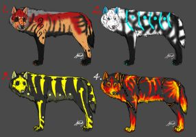 20 Point Wolf Adoptables I by VorpalBeast