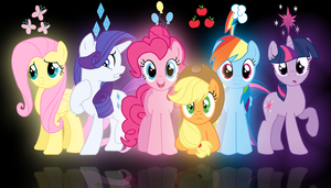 Mane Six - Wallpaper by brightrai