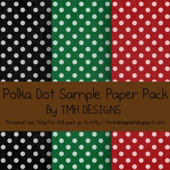 Polka Dot Sample Paper Pack by frenzymcgee