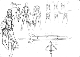RWBY character design: Seraphina Falcon by Grey-Devil
