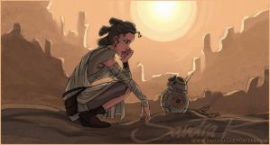 Rey's new droid by SplatterPhoenix