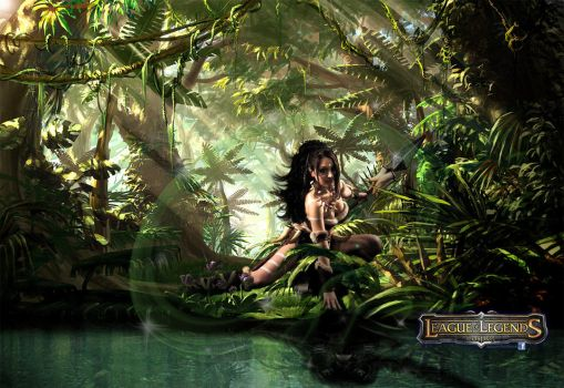 Nidalee -Claw or spear, your end's the same!- by blakdevil62114
