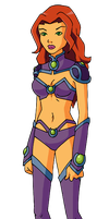Young Justice: Starfire by Glee-chan