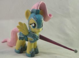 Sculpted Hair Jousting Fluttershy by Gryphyn-Bloodheart