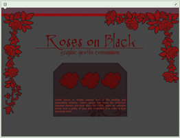 Roses on Black | simple custom graphic commission by BluAjisai
