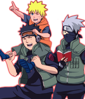 Naruto , Kakashi , Obito Render by lBackFromTheDeadl