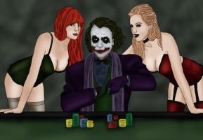 Ivy x Joker x Harley: Gamblers by BLOOD-and-LUST-87
