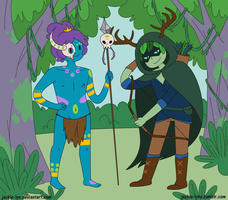 Jungle Prince and Hunter Wizard by Jackie-lyn