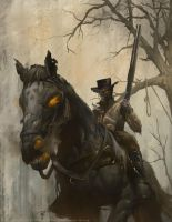 Deadlands - Dead Dude on a Horse by Rilez75