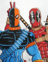 Deathstroke and Deadpool - Best Buds? by calslayton