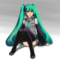 Miku by magicalondine